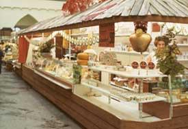 Widmann Käse Verkauffstand in der Stuttgarter Markthalle