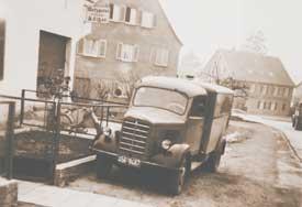 Erster Firmenwagen von Heinz Widmann 1953