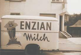 Firmenlieferwagen in den 60er Jahren